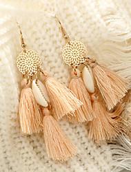cheap -Women's Drop Earrings Spike Ladies Tassel Vintage Boho Earrings Jewelry Light Pink For Ceremony Carnival 1 Pair