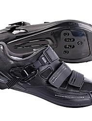 cheap -Road Bike Shoes Nylon, Fiberglass, Air-flow vents, Non-Slip tread Breathable Cushioning Ventilation Cycling / Bike Cycling Shoes Black Men's Cycling Shoes / Ultra Light (UL) / Breathable Mesh