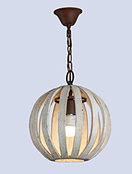 cheap -1-Light Austen Ding 31 cm Creative Chandelier Wood / Bamboo Wood / Bamboo Industrial Painted Finishes / Wood Retro / Lantern 110-120V / 220-240V