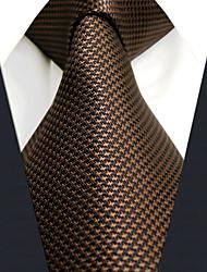 cheap -Men's Work / Basic Necktie - Solid Colored / Jacquard