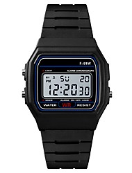 cheap -Men's Sport Watch Digital Watch Japanese Digital Silicone Black / Rose 30 m Water Resistant / Waterproof Alarm Calendar / date / day Digital Fashion - Black Fuchsia / Chronograph / Stopwatch