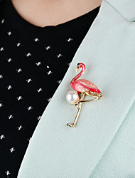 cheap -Women's Brooches Classic Bird Ladies Unique Design Imitation Pearl Brooch Jewelry Pearl Pink Green For Daily Evening Party