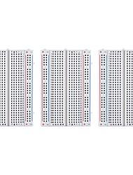 abordables -3pcs 400 breadboard de points d'attache pour framboise pi et arduino