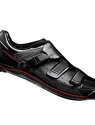 cheap -Adults' Road Bike Shoes Carbon Fiber Breathable Cushioning Ventilation Cycling / Bike Cycling Shoes White Black Men's Cycling Shoes / Ultra Light (UL) / Ultra Light (UL)