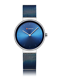 cheap -Women's Dress Watch Quartz Stainless Steel Black / Blue / Grey Water Resistant / Waterproof Analog Ladies Fashion Minimalist - Rose Gold White / Blue Gold / White