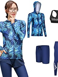 cheap -SBART Men's Women's Rash Guard Dive Skin Suit Spandex Diving Suit UV Sun Protection Breathable Quick Dry Long Sleeve 3-Piece 4-Piece - Surfing Snorkeling Watersports Fashion Autumn / Fall Spring
