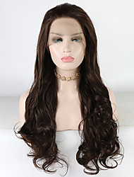 cheap -Synthetic Lace Front Wig Loose Wave Loose Curl Free Part Lace Front Wig Long Brown Synthetic Hair 18-26 inch Women's Heat Resistant Synthetic Best Quality Brown / Doll Wig