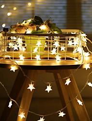 cheap -6m Pentagram String Lights 40 LEDs Warm White Christmas Party Bedroom Decorative 220-240 V 1 set