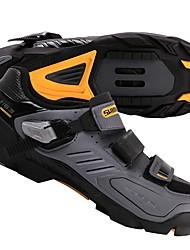 cheap -Adults' Mountain Bike Shoes Nylon, Fiberglass, Air-flow vents, Non-Slip tread Breathable Cushioning Ventilation Cycling / Bike Cycling Shoes Jacinth +Gray Men's Cycling Shoes / Ultra Light (UL)