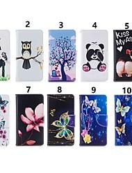 Недорогие -Кейс для Назначение Nokia Nokia 8 / Nokia 7.1 / Nokia 5.1 Кошелек / Бумажник для карт / Защита от удара Чехол Бабочка / Мультипликация / Панда Твердый Кожа PU