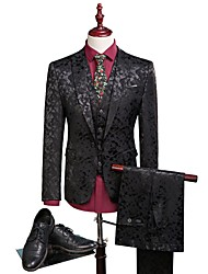cheap -Tuxedos Standard Fit Notch Single Breasted One-button Polyester Damask / Graphic