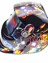 Недорогие -железный человек рисунок солнечная автоматическая фотоэлектрическая сварочная маска