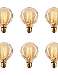 cheap -6pcs/Lot Edsion Bulbs 40W E26/E27 G80 2700k Incandescent Vintage Dimmable Edison Vintage Light Bulb 220-240V/110-120V