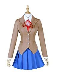 cheap -Inspired by Doki Diki Literature Club Monika / Natsuki Video Game Cosplay Costumes Cosplay Tops / Bottoms Fashion / Lolita Long Sleeve Coat Vest Blouse Costumes
