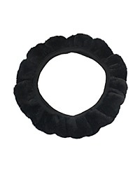cheap -Steering Wheel Covers Plush 38cm Black / Gray / Yellow For universal All Models All years