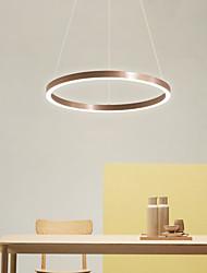 cheap -LED Pendant Light Ring Circle Design Nordic Modern Novelty Downlight Brushed Aluminum Adjustable Warm White Cold White 110-120V 220-240V