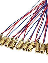 abordables -10 x tête de module de diodes à points laser wl rouge 650nm 6mm 5v 5mw paquet de 10
