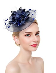 cheap -Feathers / Net Fascinators / Headdress with Feather 1 Piece Wedding / Special Occasion Headpiece