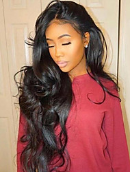 cheap -Remy Human Hair Full Lace Wig style Brazilian Hair Wavy Body Wave Wig 130% Density with Baby Hair Natural Hairline Bleached Knots Women's Long Human Hair Lace Wig