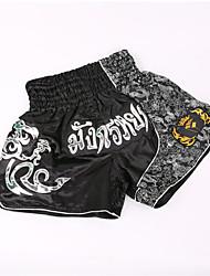 Недорогие -Шорты для Муай Тай / Боксерские шорты Назначение Боевые искусства, ММА, Грэпплинг, UFC Эластичный пояс Вышивка Легкость, Быстровысыхающий, Пригодно для носки Полиэстер Взрослые / Дети -