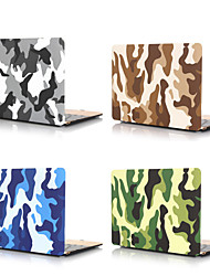 cheap -Camouflage PVC Hard Case For MacBook Pro Air 11-15 Computer Case 2018 2017 2016 Release A1989 / A1706 / A1708 With Touch Bar