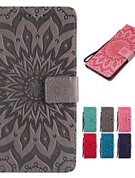 cheap -Case For Motorola Moto G6 Play / MOTO G5 Plus Wallet / Card Holder / with Stand Full Body Cases Solid Colored / Mandala Hard PU Leather for Moto Z Force / Moto X Style / Moto G6 Play