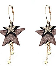 cheap -Women's Drop Earrings Star Ladies Stylish Classic Earrings Jewelry Gold For Daily 1 Pair