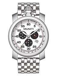cheap -Men's Wrist Watch Quartz Black / Silver Casual Watch Cool Analog Fashion - Silver Silver / Black Black / White