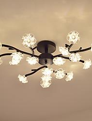 cheap -18 Bulbs OYLYW 72 cm Flush Mount Lights Metal Glass Painted Finishes LED / Modern 110-120V / 220-240V / G4