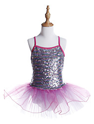 cheap -Ballet Dresses Girls' Training / Performance Spandex / Tulle / Sequined Wave-like / Paillette Sleeveless Dress