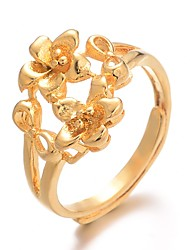 cheap -Women Ring Classic Gold Gold Plated Ladies Luxury Hyperbole 1pc Adjustable / Women's / Adjustable Ring