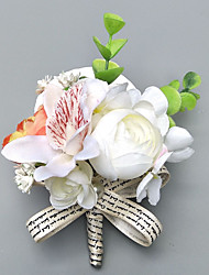 """cheap -Wedding Flowers Boutonnieres / Wrist Corsages Wedding / Party Evening Polyester 2.36""""(Approx.6cm)"""
