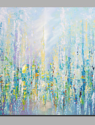 cheap -Oil Painting Hand Painted Abstract Floral / Botanical Comtemporary Modern Stretched Canvas / Rolled Canvas With Stretched Frame