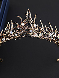 cheap -Bride Black Swan Vintage Elegant Masquerade Women's Costume Tiaras Golden / White Vintage Cosplay