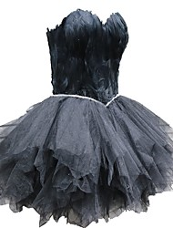 cheap -Black Swan Little Black Dress Elegant Dress Masquerade Women's Tulle Costume Black / White Vintage Cosplay Homecoming Sleeveless