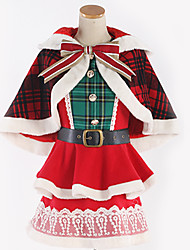 cheap -Inspired by Love Live Cosplay Anime Cosplay Costumes Japanese Cosplay Suits Plaid / Checkered Mixed Color Top Dress Shawl For Men's Women's / Waist Accessory / Bow / More Accessories / Bow