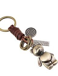 cheap -Classic Theme / Bear / Creative Keychain Favors Chrome / Calf Hair Keychains - 1 pcs All Seasons