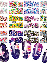 cheap -48 pcs Water Transfer Sticker Flower / Botanical nail art Manicure Pedicure Multi Function / New Sweet / Fashion Daily