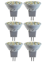 cheap -6pcs 5 W 80 W LED Spotlight 260 lm MR11 MR11 15 LED Beads SMD 5060 Decorative Warm White Cold White 12 V