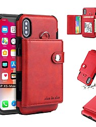 cheap -Case For Apple iPhone XS / iPhone XR / iPhone XS Max Wallet / Card Holder / Shockproof Back Cover Solid Colored Soft TPU