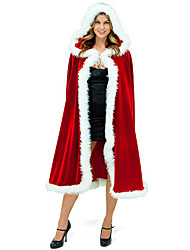 cheap -Cosplay Costume Cloak Santa Clothes Teen Adults' Unisex Cover Up Christmas Christmas New Year Festival / Holiday Terylene Red Carnival Costumes Holiday / Shawl / Shawl