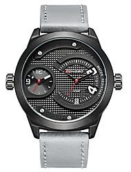 Недорогие -LONGBO Муж. Нарядные часы Наручные часы Японский Японский кварц Натуральная кожа Черный / Серый 30 m Защита от влаги Календарь Повседневные часы Аналоговый Классика Мода -