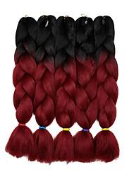 "cheap -Braiding Hair Curly Twist Braids Jumbo Dreadlocks / Faux Locs Synthetic Hair 5 Pieces Hair Braids Gray 24 inch 23 1/2""60 cm Synthetic Color Gradient Hot Sale Christmas Dailywear Daily Wear African"