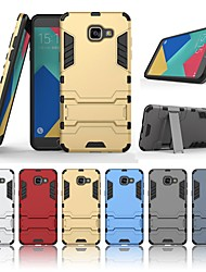 cheap -Case For Samsung Galaxy A5(2016) Shockproof / with Stand Back Cover Solid Colored Hard PC