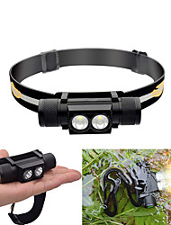 cheap -Headlamps Waterproof 30-550 lm LED LED 2 Emitters 6 Mode with Batteries Waterproof Adjustable Durable Lightweight Camping / Hiking / Caving Cycling / Bike Hunting Black / IPX 6