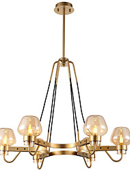 cheap -6-Light 78 cm Mini Style Chandelier Metal Glass Mini Electroplated Artistic / Country 110-120V / 220-240V
