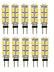 cheap -10pcs 3 W LED Bi-pin Lights 180 lm G4 T 13 LED Beads SMD 5050 Decorative Warm White White Red 12 V