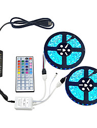 cheap -ZDM Waterproof LED Light Strips Kit RGB Tiktok Lights SMD 10mm 5050 32.8Ft 10M 300 LEDs 30ledsm with 12V 6A Adapter 44 Key Remote Controller and Power Supply for Party IndoorOutdoor Ornament