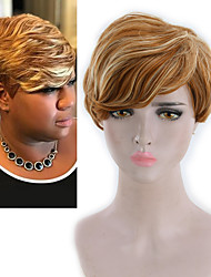 cheap -Synthetic Wig Yaki Straight Free Part Wig Blonde Short Bleach Blonde#613 Synthetic Hair 8INCH Women's Adjustable Heat Resistant Synthetic Blonde