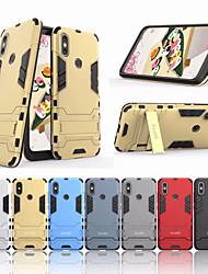 Недорогие -Кейс для Назначение Xiaomi Xiaomi Mi 6X(Mi A2) / Xiaomi A2 Защита от удара / со стендом Кейс на заднюю панель Однотонный Твердый ПК